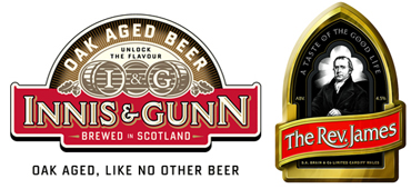 innis & gunn oakaged beer - sa brains the rev. james