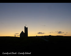 lundy at dusk